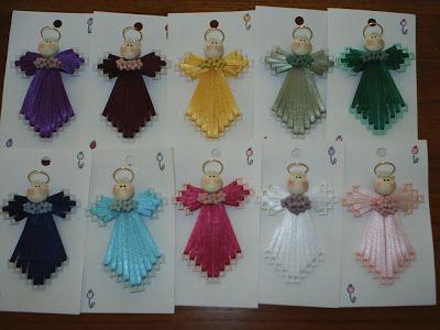 plastic canvas ribbon angel free pattern | Polka Dot Pineapple: Angel Pins