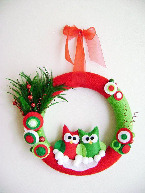 Owls! On a wreath!