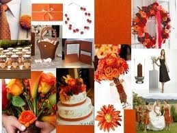 Orange And Brown Wedding My