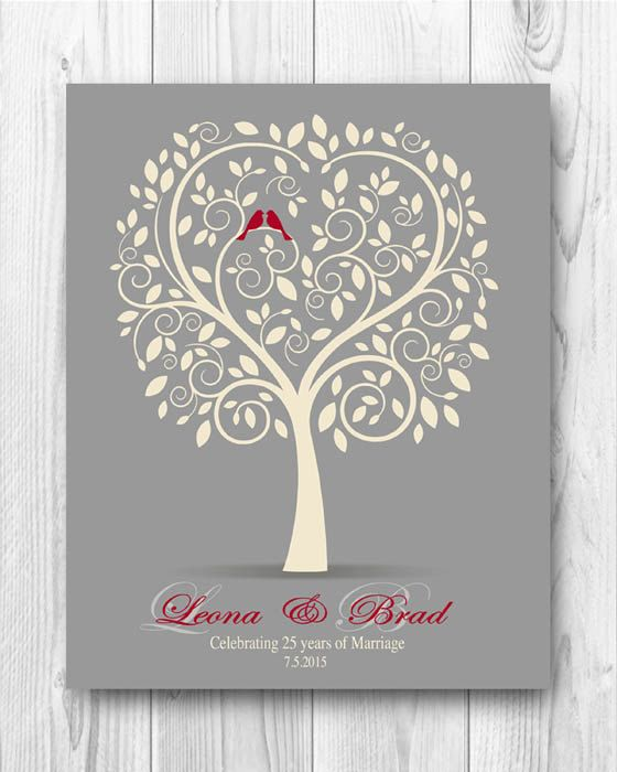 Wedding Anniversary Tree Gift, Anniversary Gift for Parents, Gift ...