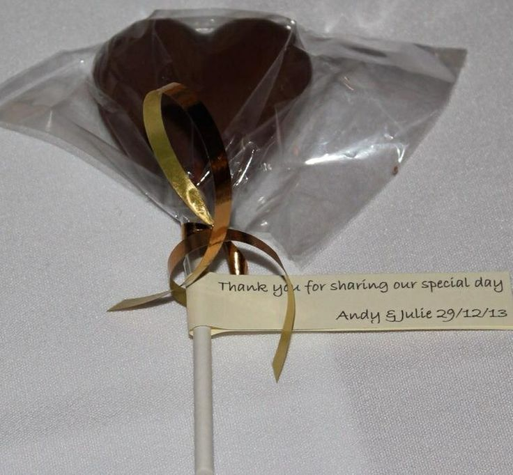 Chocolate heart wedding favour - made by me