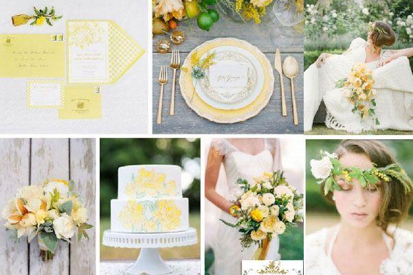 Tendencias en colores para boda primavera-verano 2015: Decoración de boda en custard #bodas #elblogdemaríajosé #coloresboda2015 #tendenciasbodas #decoraciónboda