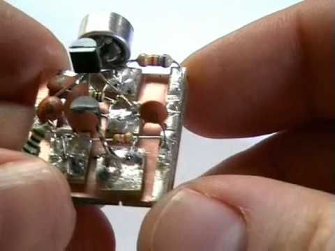 Build your own Surveillance Spy Bug. FM Transmitter Bug. No special parts needed. - YouTube