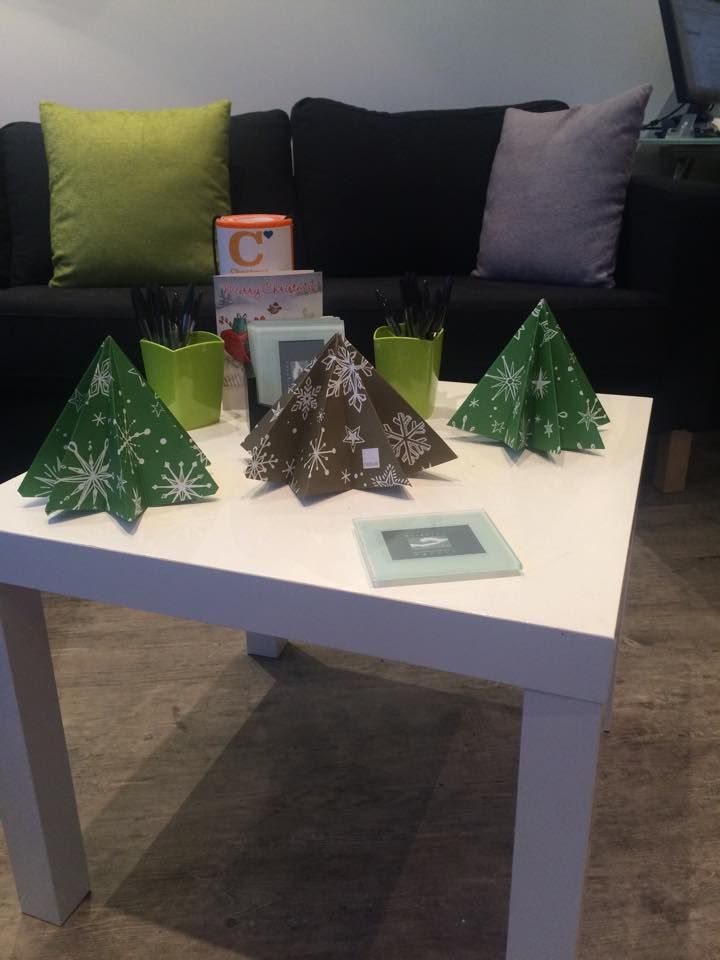 "Brighton Accommodation agency entry. ""Thanks to Nexus Design & Print Ltd for our Christmas goodies - we are going to spend the rest of the day attempting to make our Origami Tree!"""
