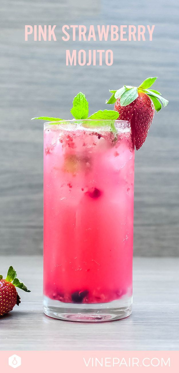 The Pink Strawberry Mojito Recipe