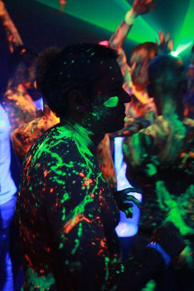 Светящаяся краска для боди-арта разработана специально для кожи человека. Краска сделана из экологически чистой основы, которую легко смыть под воздействием теплой воды. Светящаяся краска абсолютно безопасна ее можно наносить на все участки тела.