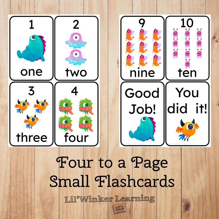 Flash cards for toddlers numbers 110 prek math flashcards