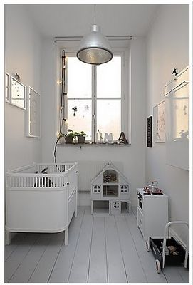 All white nursery: Dolls Houses, All White, White Nurseries, Children Rooms, Tiny Rooms, Kids Spaces, Small Spaces, Baby Rooms, Kids Rooms