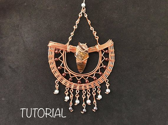 TUTORIAL PDF wire wrapped boho statement earrings pattern book,wire wrap weave jewelry,copper,wrapping weaving,weaved,beach summer jewellery