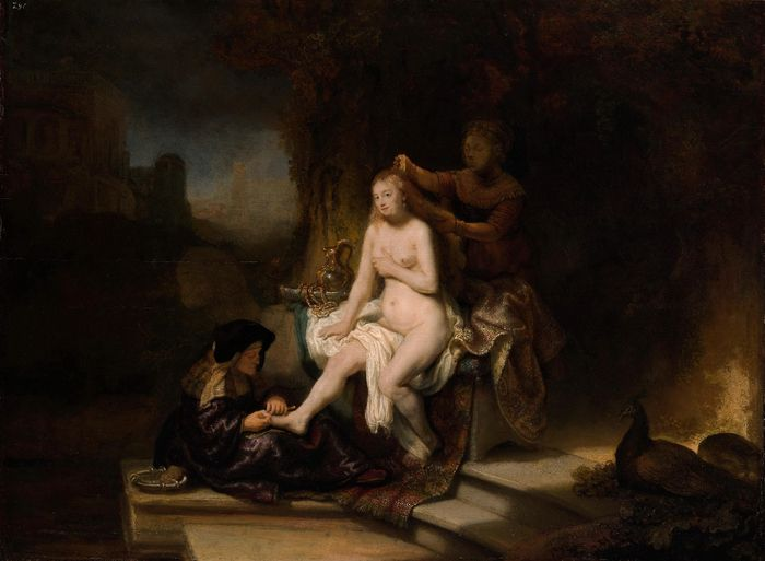 Рембрандт. Туалет Вирсавии. 1643. Нью-Йорк. Метрополитен-музей.