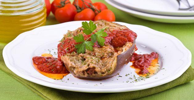 Aubergines à la Bonifacienne: A Corsican stuffed aubergine dish #ATasteOf