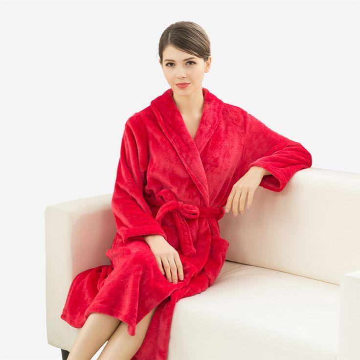 Los amantes de Super Suave Bata de Franela Albornoz Del Kimono de Seda de La Boda de dama de Honor Batas de Baño para Mujeres Bata Larga de Los Hombres ropa de Dormir