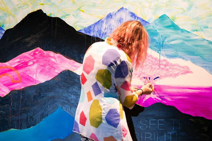 Contemporary visual artist Shannon Crees brings Cemintel's 'See the Possibilities' message to life at our recent event in Melbourne