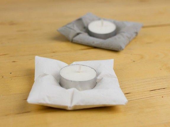 С бетона или штукатурки могут формировать свои шикарные чая держателей свет свечи.