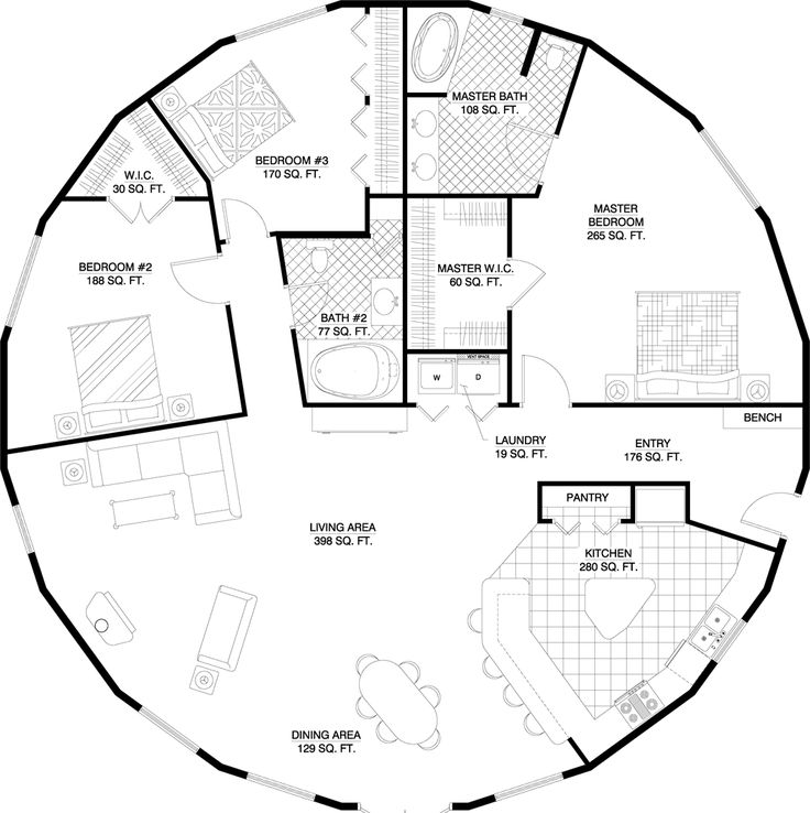 Layouts For Dome Homes Plans: 32 Best Floor Plans Images On Pinterest