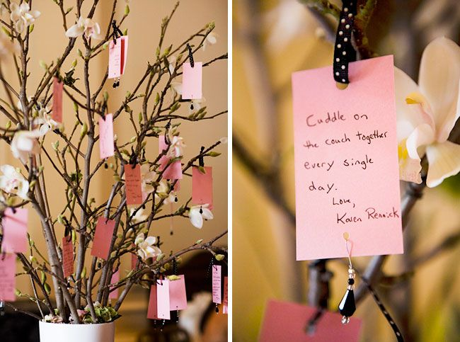 DIY inspiration guest book tree