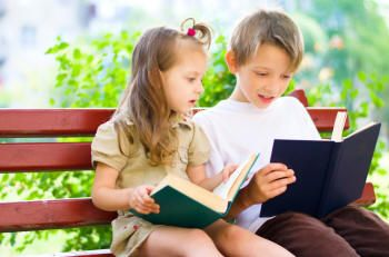 Encouraging children to think of themselves will make them become more independent and self-sufficient.  The ones who think greatly of themselves have a higher chance to be successful in life.Girl and Boy #Reading http://www.goatlapshop.com/importanttoread.htm