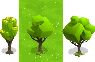 unusual cubic trees by Pavel Pro, via Behance