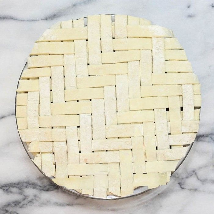 herringbone lattice pie from Serious Eats                                                                                                                                                                                 More