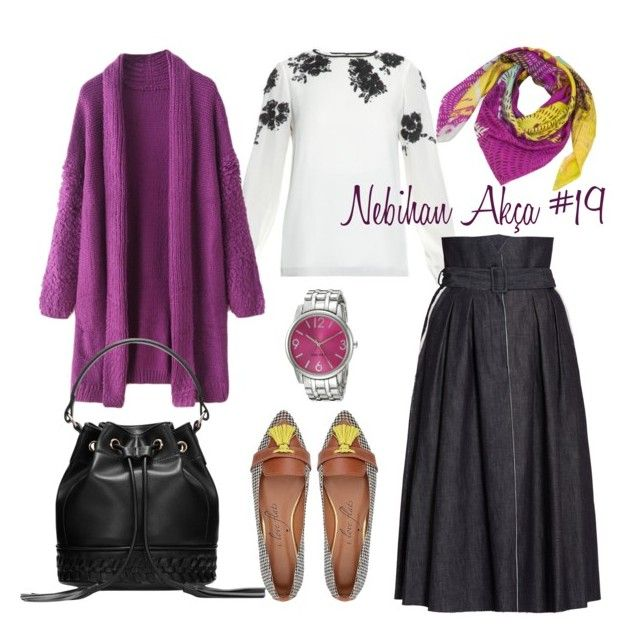 hijab fashion outfit #19 by nebihan-akca on Polyvore featuring polyvore fashion style Oscar de la Renta Bottega Veneta Nine West Liz Nehdi