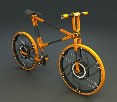 Перед вами городской велосипед ECO//07. С виду — обычный двухколесник. Но это не так. ECO//07 можно разобрать на мелкие детали и закинуть в коробку. Легко, удобно, компактно.