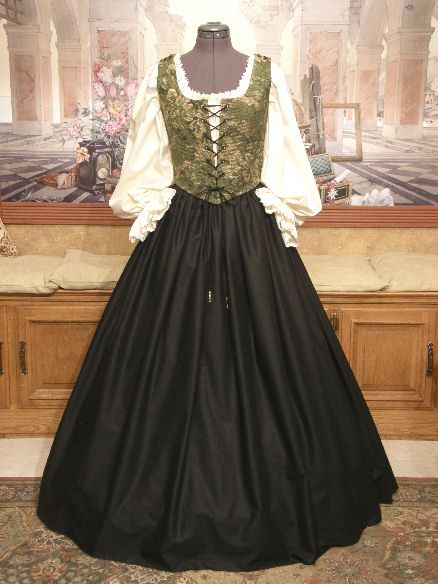 Renaissance Faire Clothing | Renaissance Wench Costume Bodice Skirt Gown Dress Faire Clothing Garb