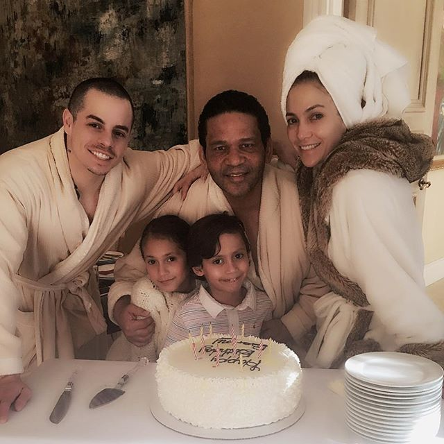 "Pin for Later: The Cutest Pictures of Jennifer Lopez and Her Adorable Kids  ""Happy Birthday to our Benny!!! #JLoVegas #ALLIHAVE #familia"""