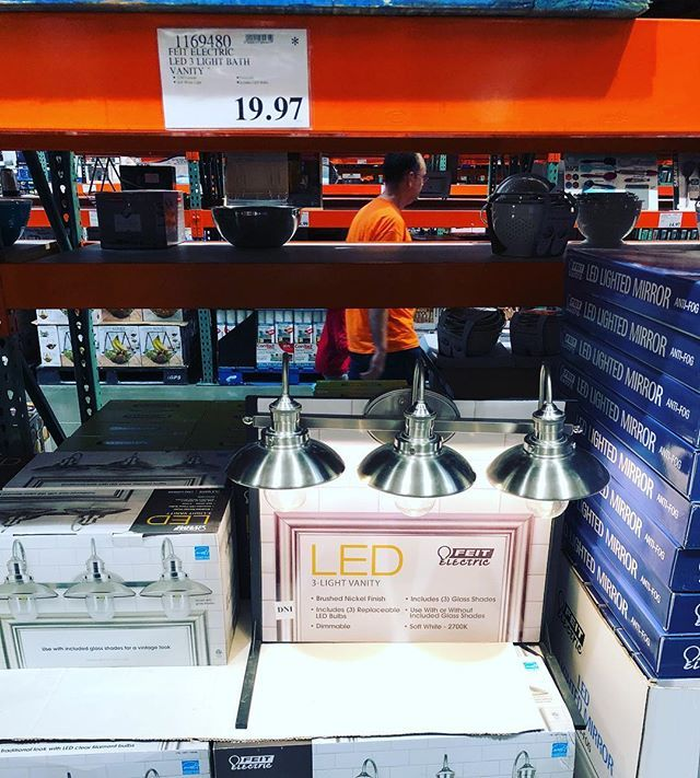 If You Can Find Them These Are Only 19 97 On Clearance A Steal For Led Bathroom Vanity Lights Costcodeals Costco Price And Avail Costco Deals Costco