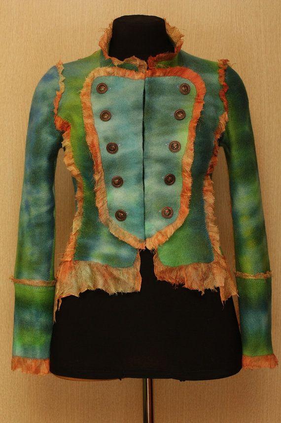 Admiral / NunoFelted Clothing / Jacket by LybaV on Etsy, $500.00