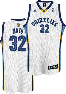 Memphis Grizzlies O J Mayo 32 White Authentic Jersey Sale