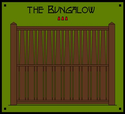 Dragonfly Studio Fence Panels. The Bungalow - Shares silhouette attributes with the typical tapered columns found on many Bungalow homes of a previous generation. This iconic backdrop allows for a wealth of gardening possibilities.
