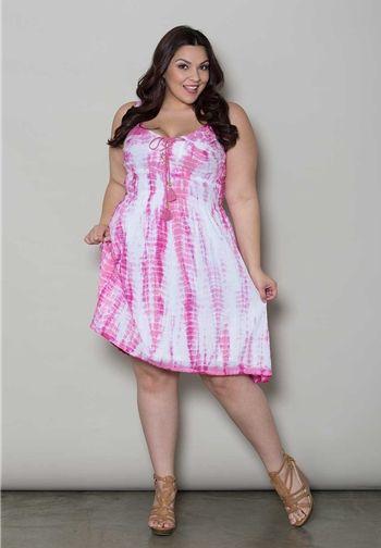 Plus Size Tie Dye Dress