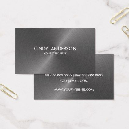Gray Brushed Metal Sheen Business Card - brushed metal gifts cool unique special gift idea