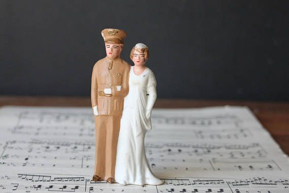 Vintage Military Army Wedding Cake Topper World War II Cake