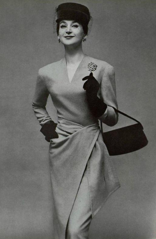 1956 Germanie Lecomte  robe d'apres - midi en Jerry