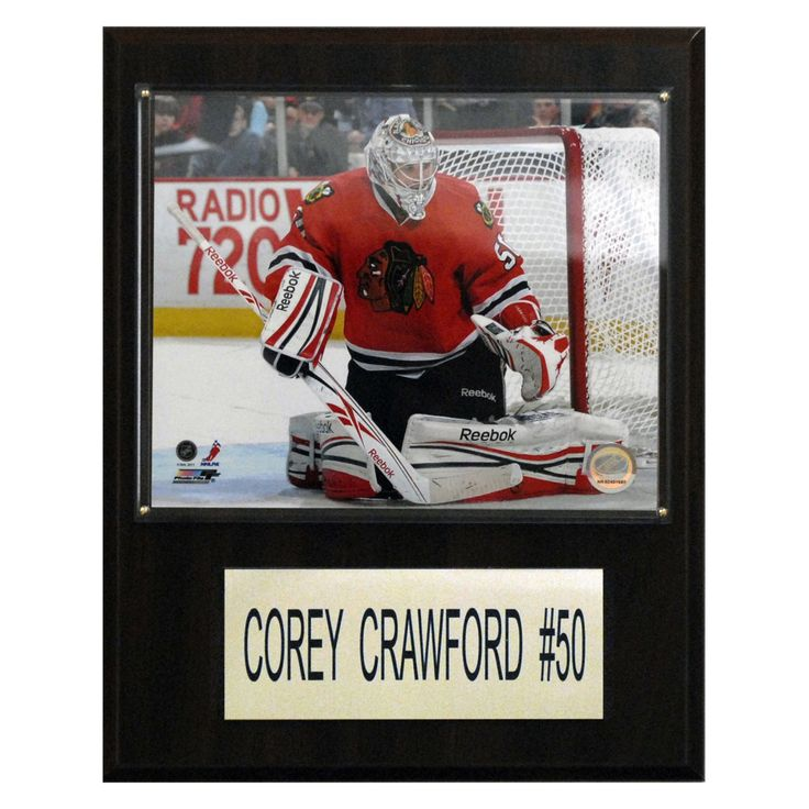 NHL 12 x 15 in. Corey Crawford Chicago Blackhawks Player Plaque - 1215COCRAW