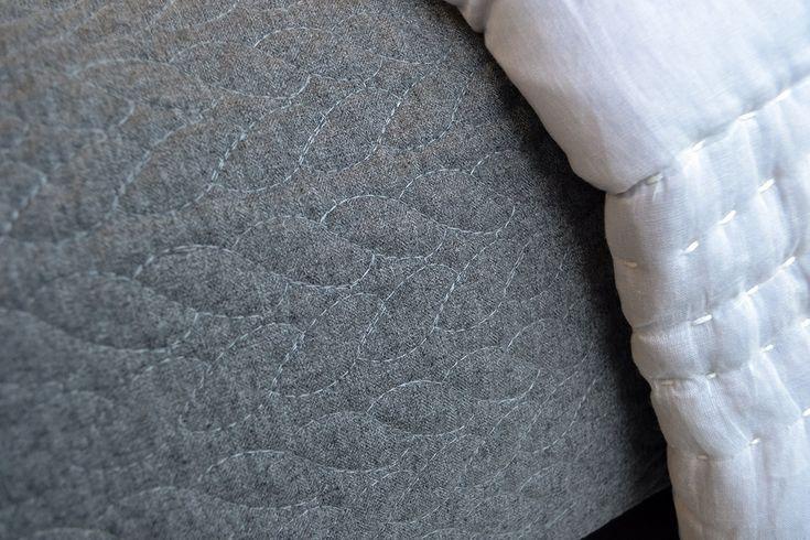 Anja - Contemporary Grey Bedspread - Natural Bed Company