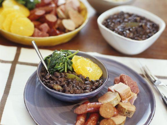 Schwarzer-Bohnen-Eintopf auf brasilianische Art ist ein Rezept mit frischen Zutaten aus der Kategorie Eintöpfe. Probieren Sie dieses und weitere Rezepte von EAT SMARTER!