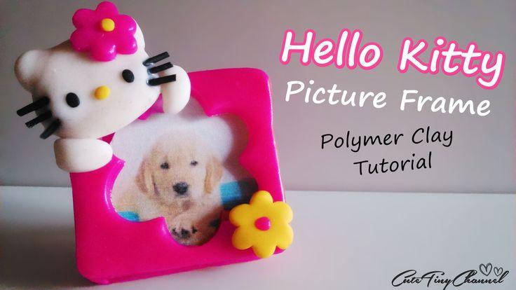 Tutorial ✿ Hello Kitty Mini Picture Frame Polymer Clay  ✿ Mini Portafotos Hello Kitty de Arcilla Polimérica.