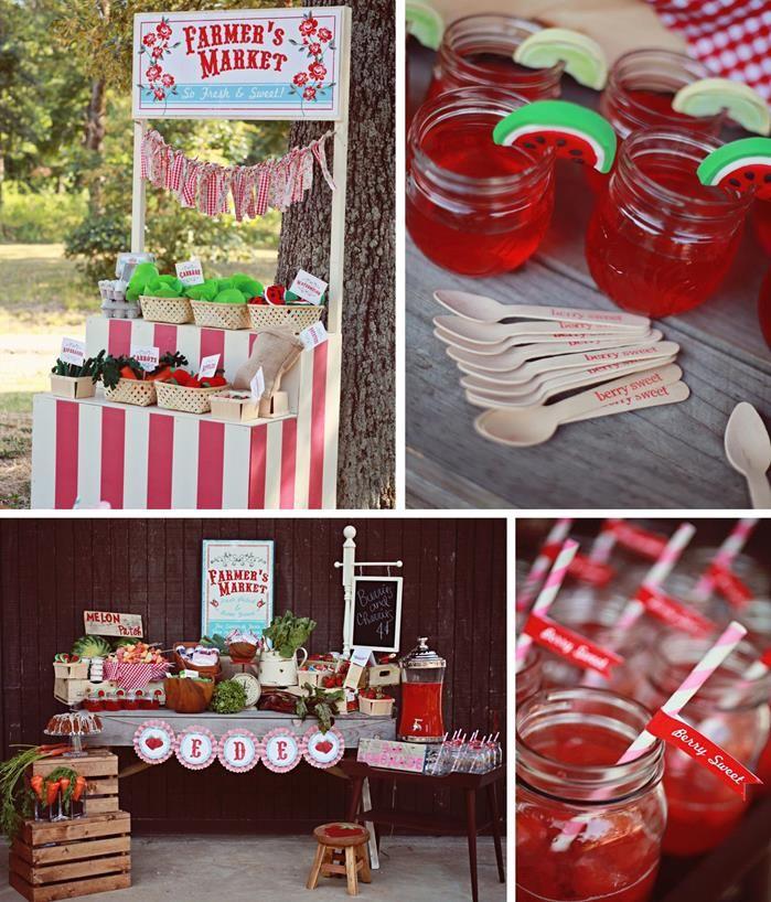 Farmer's Market Party with LOTS of FUN Ideas via Kara's Party Ideas   Kara'sPartyIdeas.com