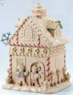 The Lenox Gingerbread House Cookie Jar