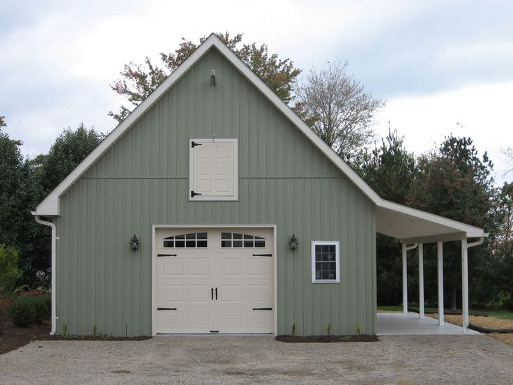 24 39 x 24 39 main garage body with an 8 39 x 9 39 overhead garage for Barn style metal buildings