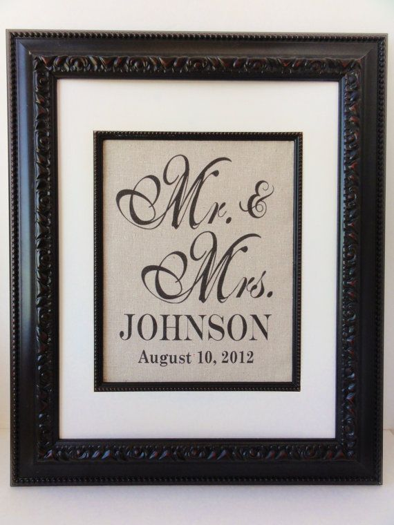 New Cotton Anniversary Gift Mr Mrs Art Perfect By