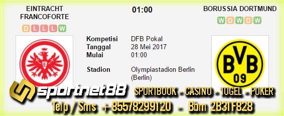 Prediksi Skor Bola Eintracht Frankfurt vs Borussia Dortmund 28 Mei 2017 Final DFB Pokal di Olympiastadion Berlin (Berlin) pada hari Minggu jam 01:00 WIB
