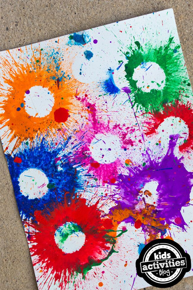 Exploding Paint Bombs Activity