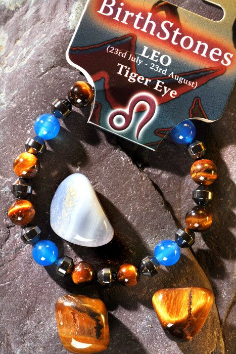 Leo - a Lucky Birthstone and Talisman Power bracelet plus a free book (Astrology the Secret Code) a bookmark & a Birthstone Gem Pack on Etsy, $12.00