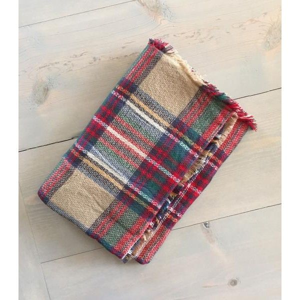 Megan Elizabeth Plaid Scarf (66 ILS) ❤ liked on Polyvore featuring accessories, scarves, tartan blanket scarf, blanket scarf, tartan plaid scarves, tartan scarves and plaid scarves