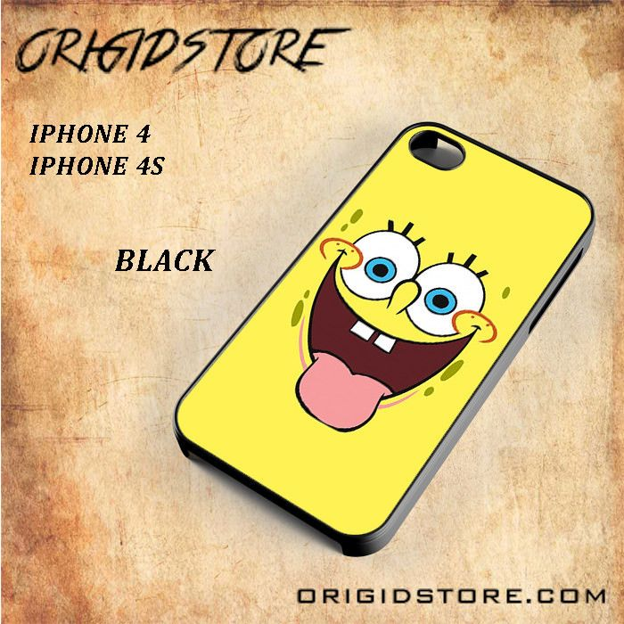 Smile Of Spongebob Squarepants For Iphone 4/4S Snap On and 3D Case