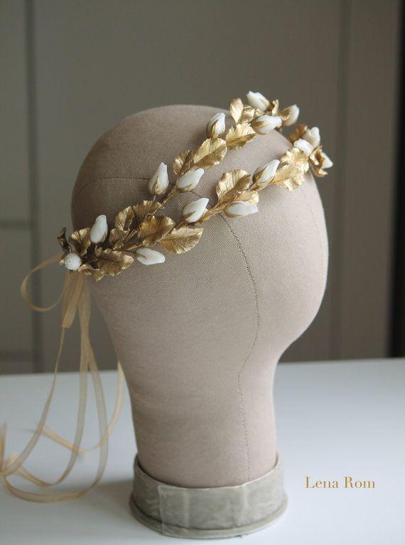 Bridal headpiece/ Bdidal wreaths/Wedding by LenaRomHeadpieces
