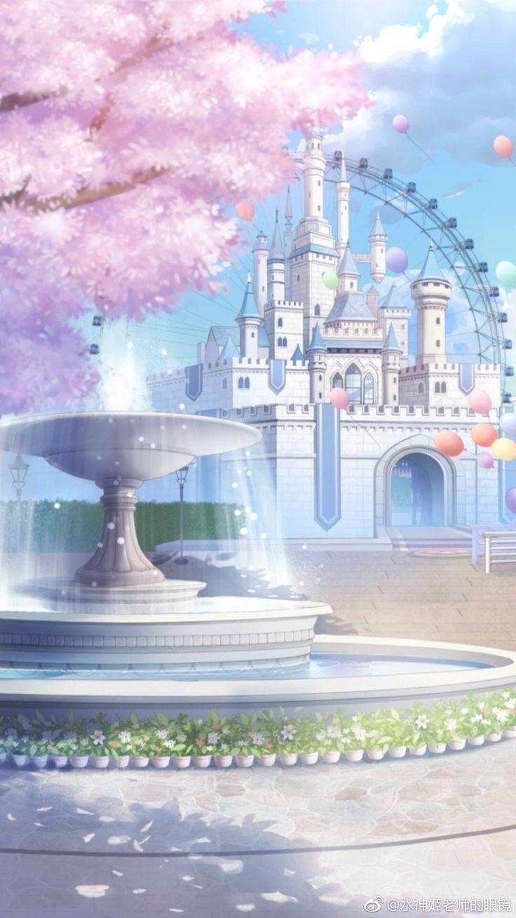 Los jardines del palacio Anime scenery, Anime